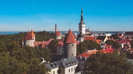 Vista aerea de la Ciudad de Tallin, En Estonia