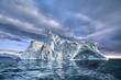 Leinwandbild Motiv iceberg floating in greenland fjord