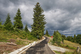 Empty road in the mountains - 214087364