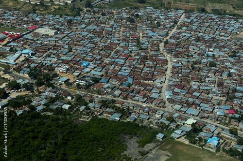 In de dag Zanzibar Die Old Town von Sansibar - Luftaufnahme