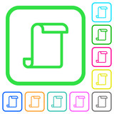 Blank paper scroll vivid colored flat icons - 214092379