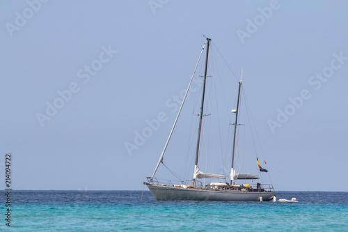 In de dag Schip Sail boat in the sea