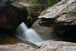 Waterfall with canyon in stones in Brazil - 214101121