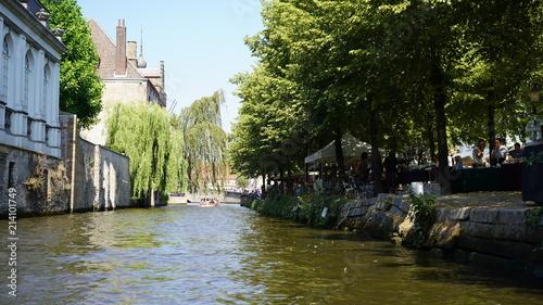 Foto Spatwand Brugge vue sur le canal, Bruges, Belgique