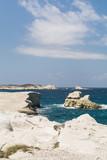 Sarakiniko beach lunar landscape in Milos, Cyclades Islands, Aegean Sea, Greece - 214111958