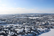 Aerial Northern Arctic Cityscape Snow Winter View