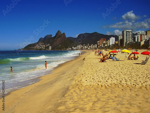 Canvas Rio de Janeiro One of the many beautiful beaches in Rio de Janeiro Brasil
