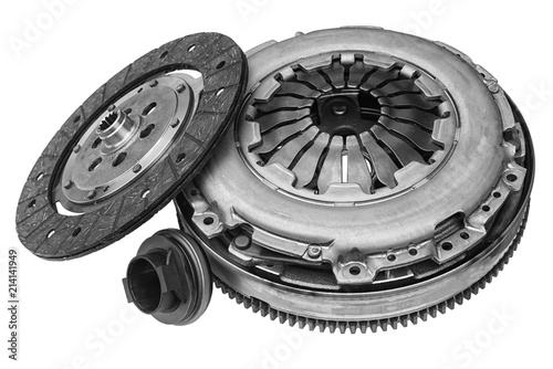 car clutch kit on white background with shallow depth of field - 214141949