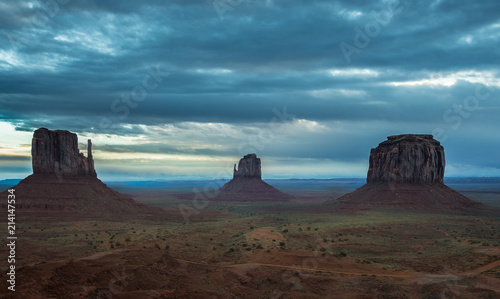 Foto Spatwand Arizona Mittens at Dawn