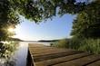 Leinwandbild Motiv idyllischer Steg am Westensee