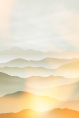 Mountains in the fog. Summer background EPS10 vector. © hamara