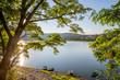 canvas print picture - Der Edersee an einem Sommermorgen