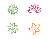 Beauty Vector flowers design logo