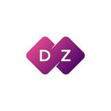 two letter dz diamond rounded logo - 214223522