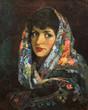 oil painting, portrait, handmade - 214226346