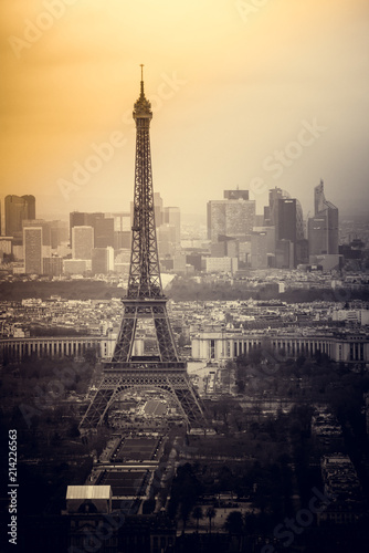 View on Eiffel Tower, Paris, France - 214226563