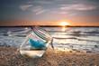 Leinwandbild Motiv Urlaubsgrüße vom Meer