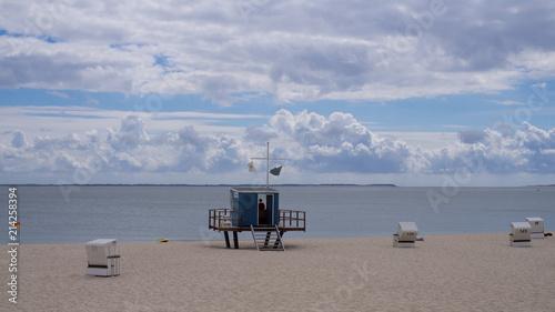 Aluminium Noordzee Strandaufsicht am Strand an der Nordsee