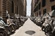 Quadro Motorradparkplatz Nähe Via Medina, Neapel, Napoli, Kampanien, Campagna, Italien, Italia