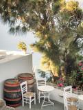Santorini bar balcony, Greece - 214268391