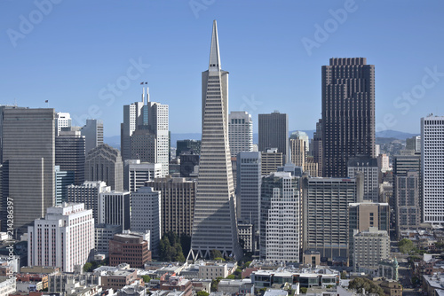 Canvas San Francisco San Francisco skyline and residential area.