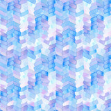 Seamless pattern with abstract geometric figures. Watercolor stripes like a trace of the wheel, stripes merge smoothly into one pattern, blue and violet colors. - 214327319