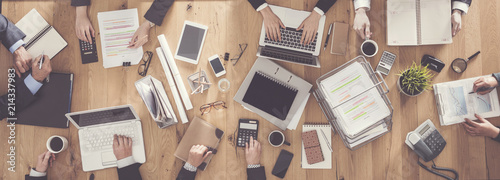 Business people working in office © sebra