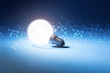 lampadina, luce, particelle, informatica