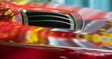 red car bonnet