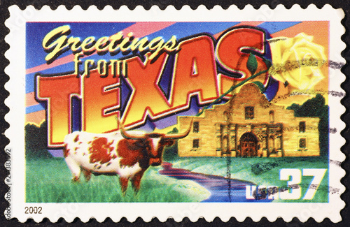 Greetings from texas postcard on stamp buy photos ap images greetings from texas postcard on stamp m4hsunfo