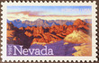 Nevada desert on american postage stamp