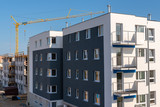 Typical modern apartment block with balcony. - 214388598