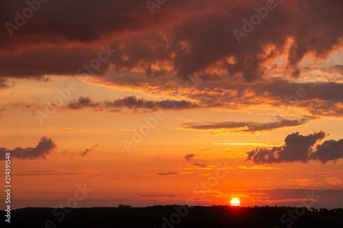 Foto Spatwand Baksteen Sunset