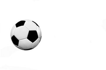 Einzelner Fussball mit Textfreiraum