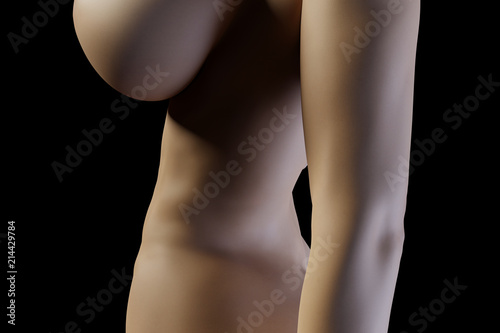 © PixlMakr - Fotolia.com Sexy nude woman from side with big boobs