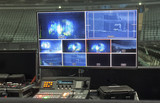 the control panel television equipment, TV cable, video cable. - 214457712
