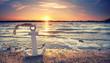 Leinwandbild Motiv Anker am Ostseestrand