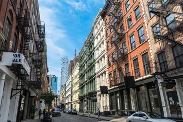 Greene Street in Lower Manhattan, New York City, USA