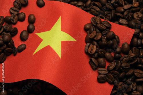 Foto Spatwand Koffiebonen Vietnam