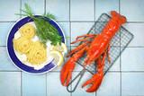 Pasta mit Hummer - 214459116