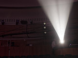 Light from the scene during the concert. light in the theater. - 214463738