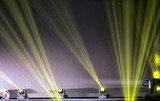 Light from the scene during the concert. light in the theater. - 214465557