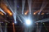 Light from the scene during the concert. light in the theater. - 214465713