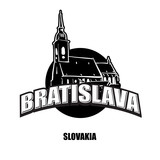 Bratislava church black and white logo