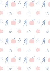 Apple pattern background. Kitchen raster background