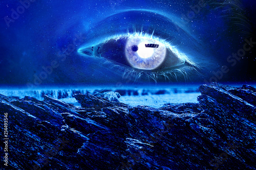 Fotobehang Heelal Space abstract backdrop
