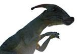 Dinosaur Parasaurolophus on a white background. Isolate