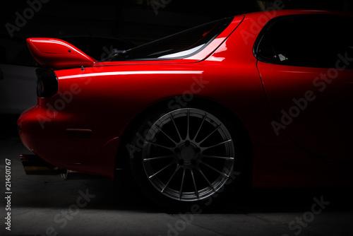 Car detailing series: Closeup of clean red sports car - 214501767