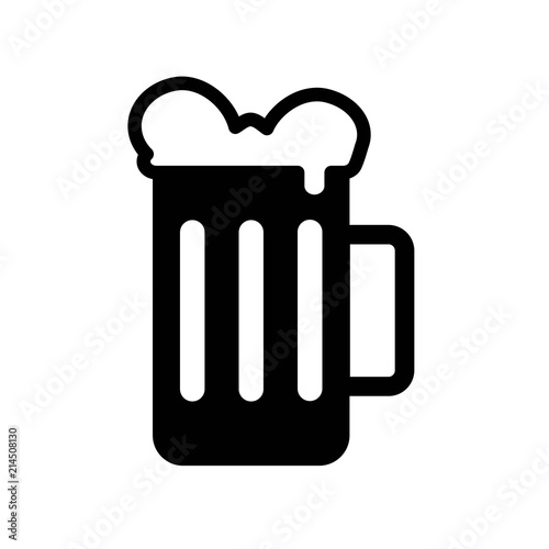 Beer Icon Vector Icon Simple Element Illustration Beer Symbol