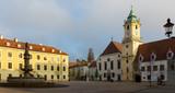 Main Square is historical landmark in sunset of Bratislava